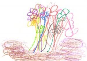 kindertekening bloemen