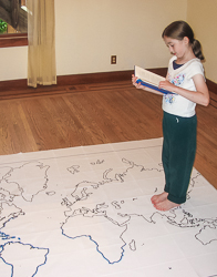 girl book map
