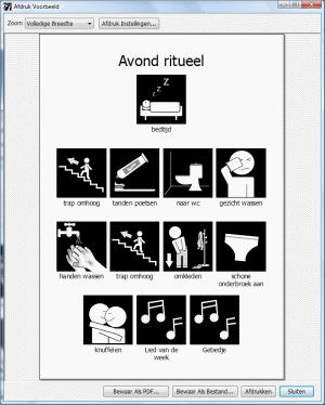 Hedendaags Pictoselector programmatuur voor pictogrammen - Ik leer in beelden YZ-66